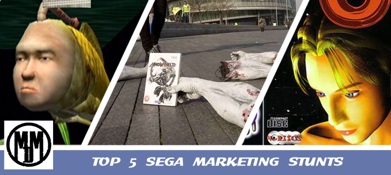 Top 5 SEGA Marketing Stunts Campaigns NFL Beta7 blackouts seaman website MadWorld arms enemy zeo sony playstation mario sonic olympics kidnap torture header