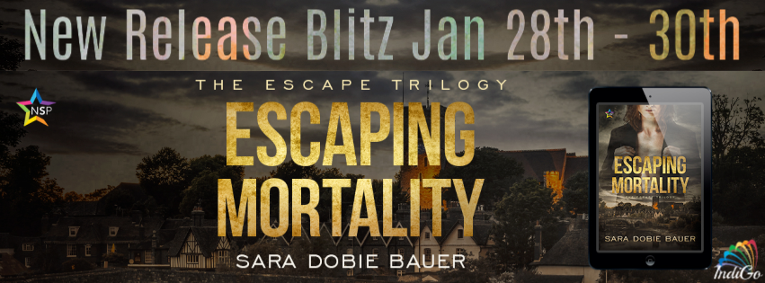 Escaping Mortality The Escape Trilogy Sara Dobie Bauer Paranormal Vampires LGBT MM Romance Bisexual Polyamorous