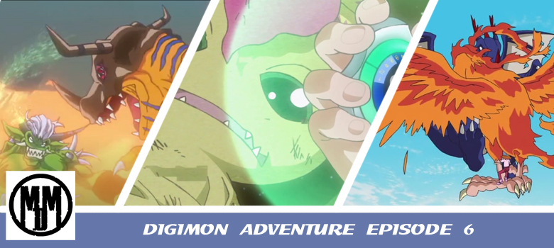 digimon adventure 2020 episode 6 the targeted kingdom taichi sora mimi agumon greymon piyomon bridramon palmon togemon orgemon drimogemon tuskmon header