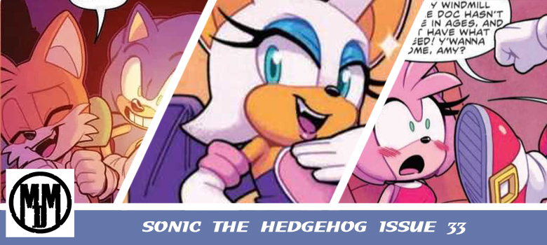 SONIC THE HEDGEHOG ISSUE 33 idw comics comic review header