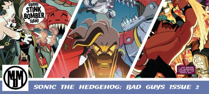 IDW Sonic the Hedgehhog Bad Guys issue 2 header