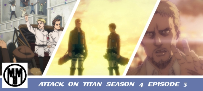 ATTACK ON TITAN SEASON 4 EPISODE 3 shingeki no kyojin the door of hope anime review header