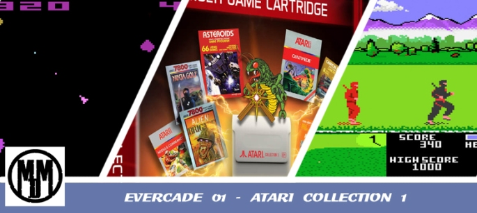 evercade 01 atari collection 1 box art 2600 7800 handheld video game review header