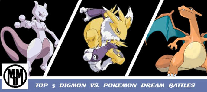 Top 5 Pokemon vs Digimon Dream Battles Header