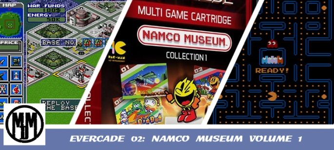 EVERCADE 02 NAMCO MUSEUM COLLECTION VOLUME 1 GAME RETRO REVIEW HEADER