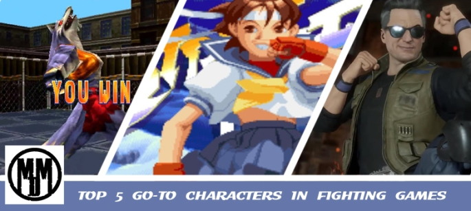 TOP 5 GO-TO CHARACTERS IN FIGHTING GAMES HEADER