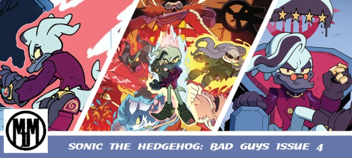IDW sonic the hedgehog bad guys issue 4 comic review header