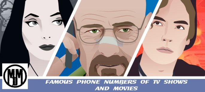 FAMOUS PHONE NUMBERS OF TV SHOWS AND MOVIES HEADER